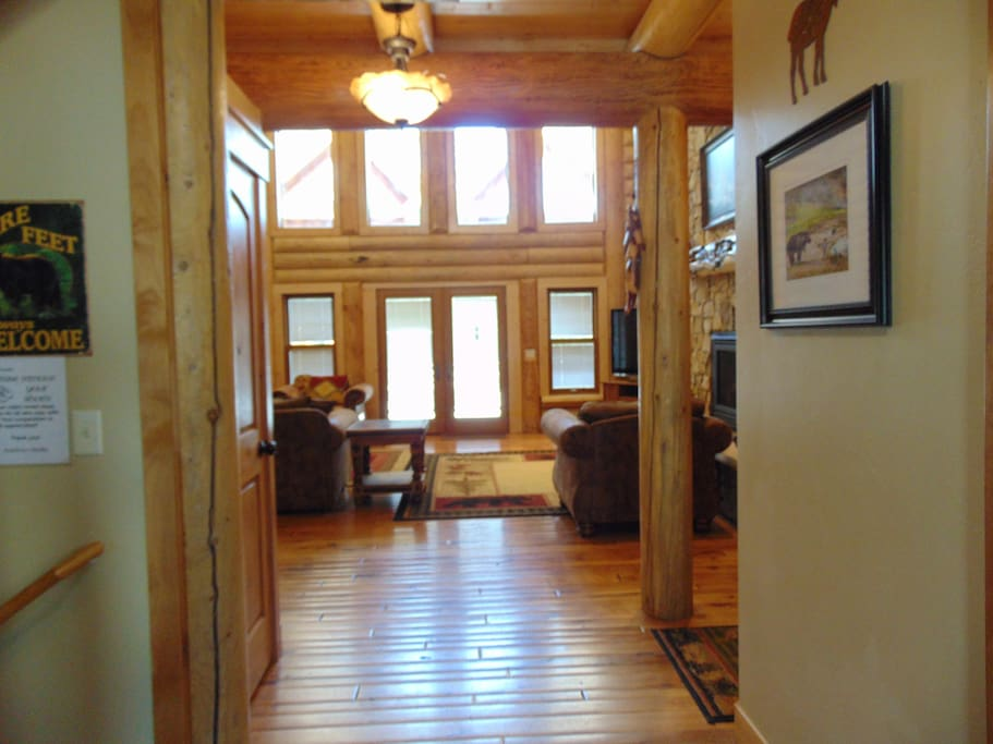 Entry way to the cabin