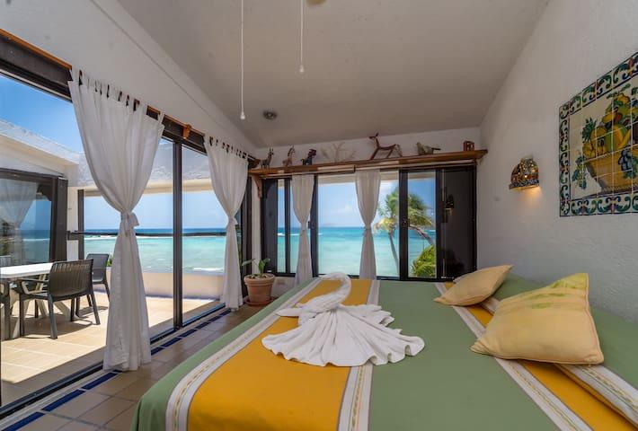 Master bedroom with ocean view.