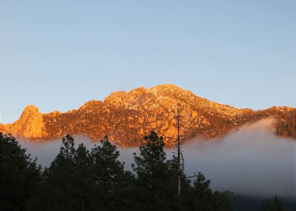 Morning Glow falls over Lily Rock