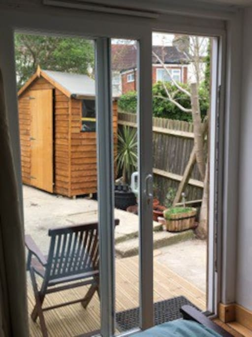 Self contained heated cabin with private patio cabins for Self contained cabin