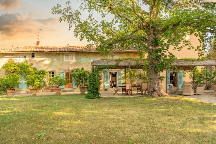 Historic Villa-Farm with Vineyards & Olives Trees