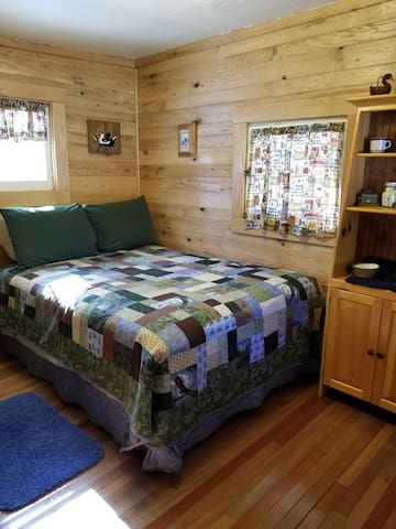 Double sized bed in 2nd room