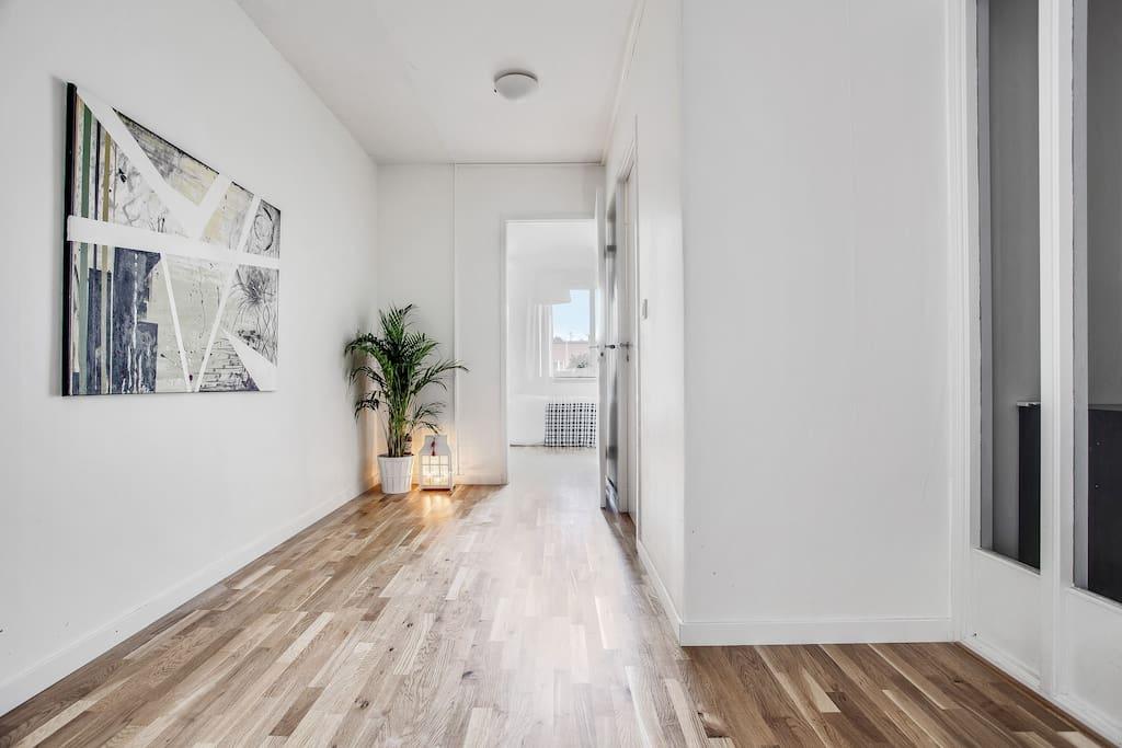 Hallway looking into bedroom