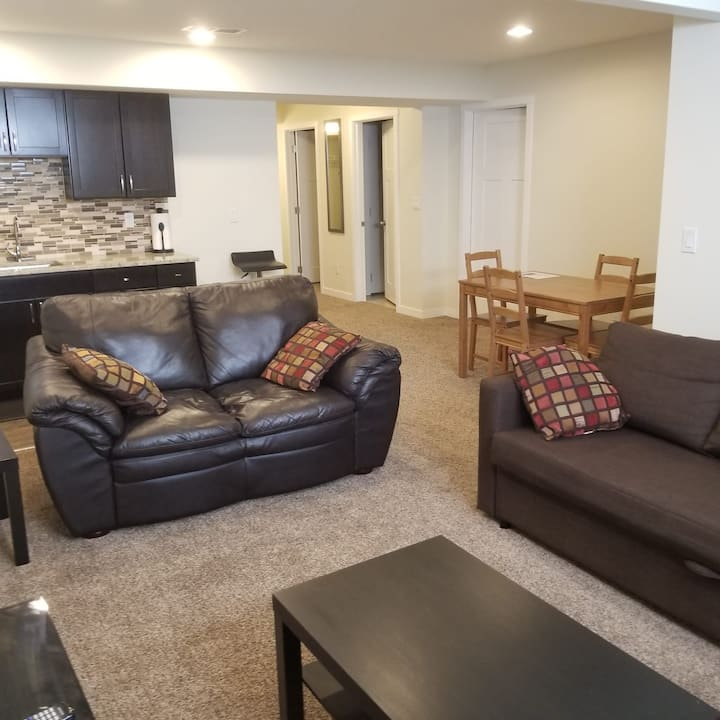 Private & spacious 2 bedroom walk-up suite