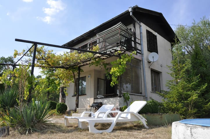 Villa with picturesque yard, amazing view and pool