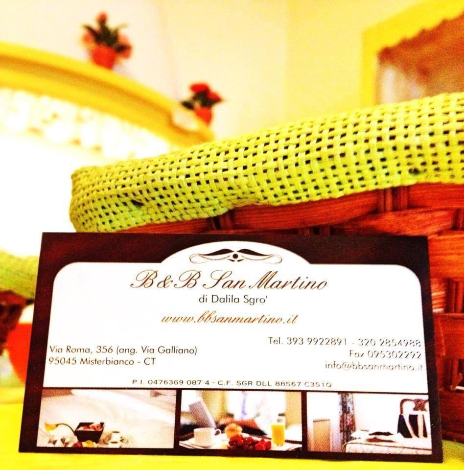 Biglietto da visita B&B San Martino
