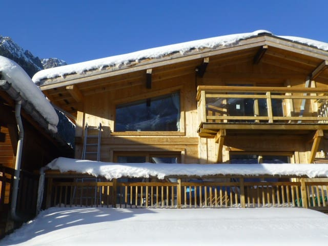 Les Praz - Calm apt. with amazing Mont Blanc view