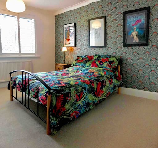 Double bedroom in contemporary, detached home
