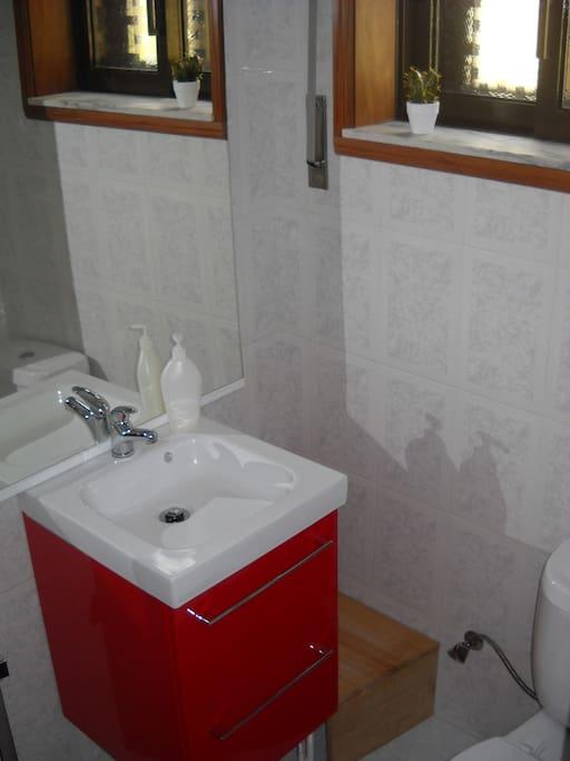 Casa de banho do quarto 'Sweet Suite'