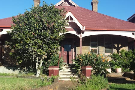 Queen bed (2nd) in historic house - North Strathfield