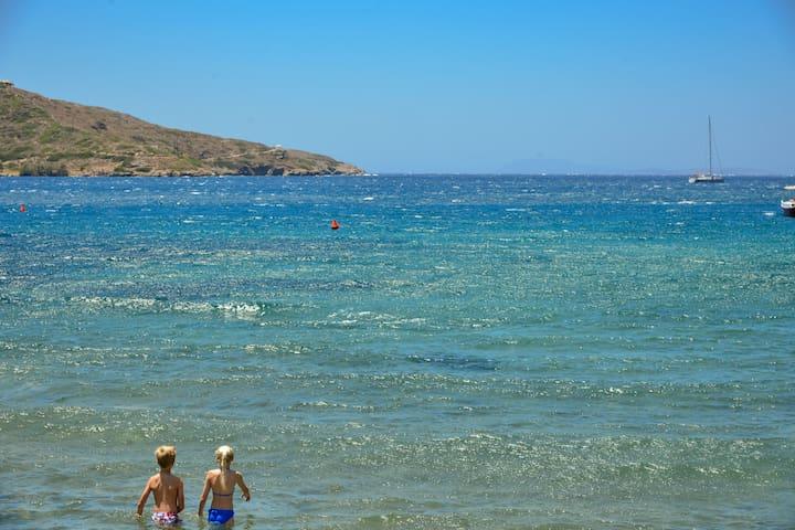 Amorgos Katapola beach studio, 5 min to port