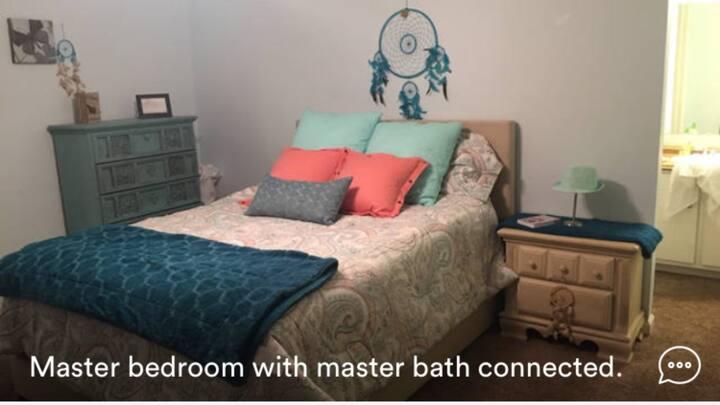 Furnished master BR w/ Bath in condo near BNA
