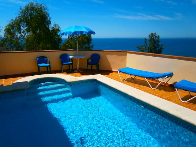 House sea view -300m from the beach - Nerja - Casa
