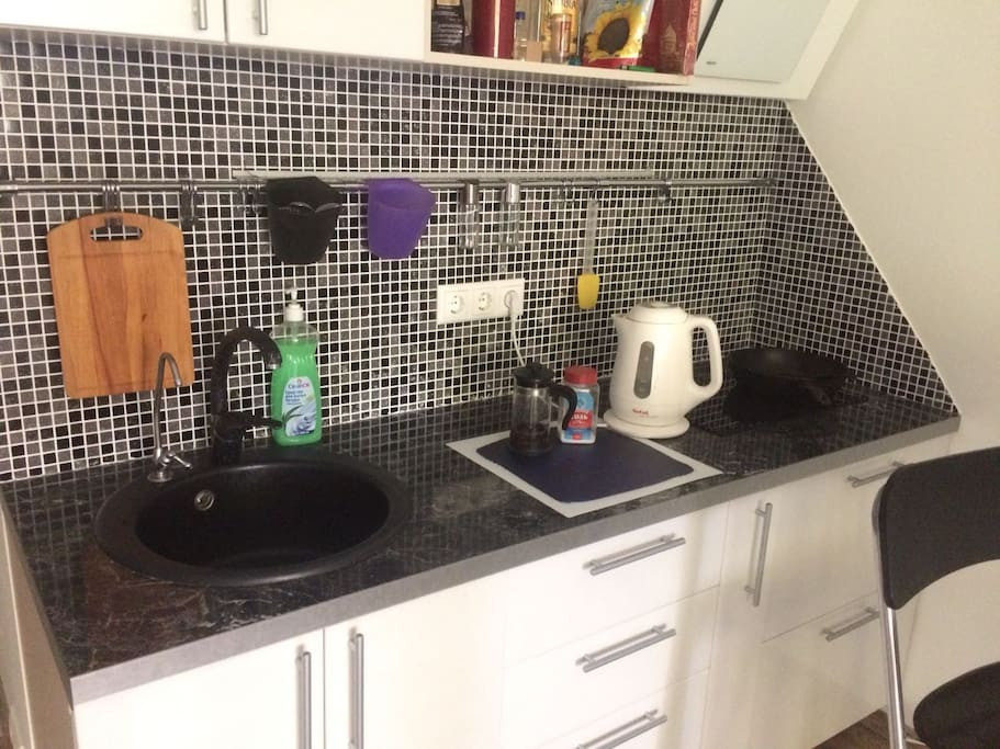 Kitchen with you need for your stay