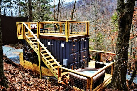 Tiny Bunker in Todd - Hot Tub, Views, Two Decks