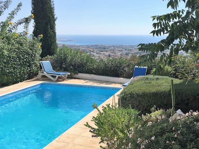 Villa with sea views, private pool, sandy beaches