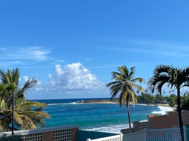 Ocean View Large Condo- On Beach+Pool +SURF@Jobos