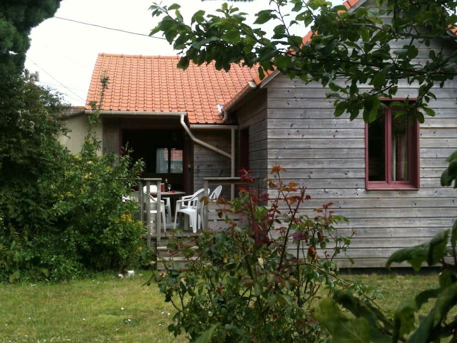 Maison en bois 800 m de la mer maisons louer for Maison bois nord pas de calais