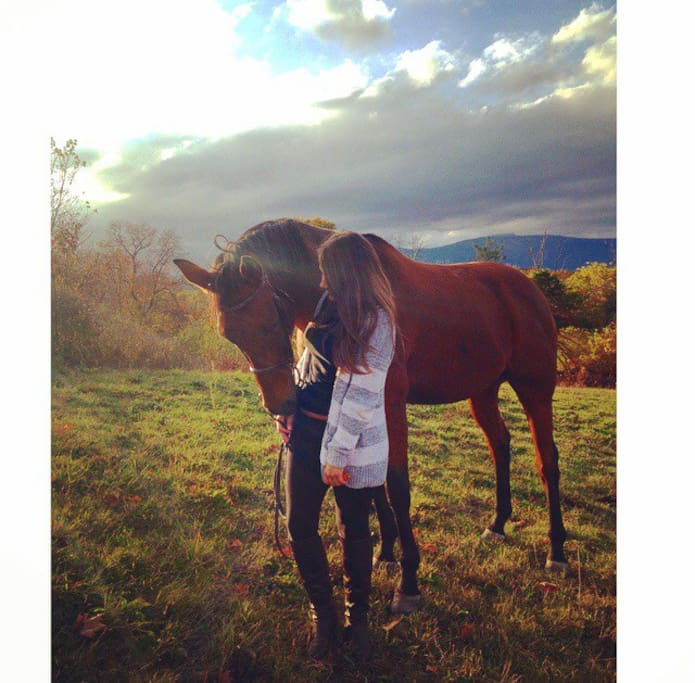 My Daughter, Alex, and her horse. ( kato) he passed on, but will always be here.