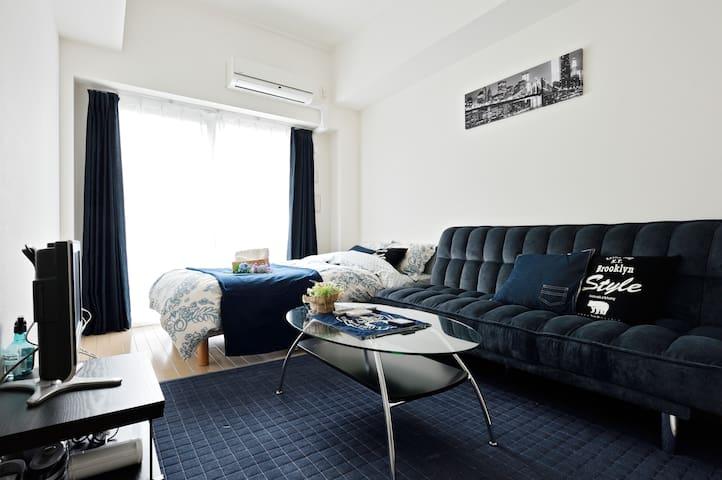 Clean Cozy Room/ Dotonbori area/ Free wifi - Chūō-ku, Ōsaka-shi - Huoneisto