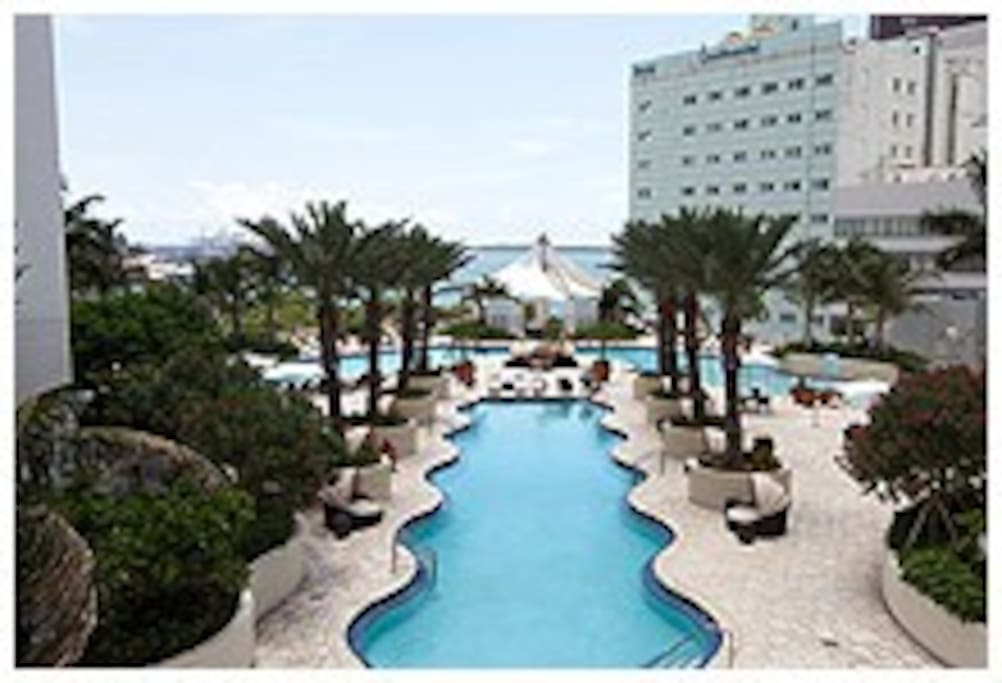 A resort in downtown Miami!