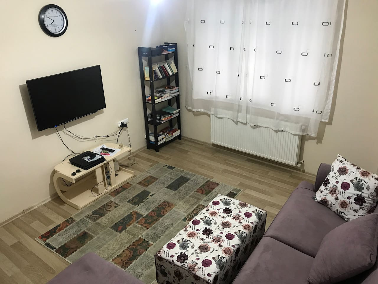 This is my living room  where my guests will rest and sleep