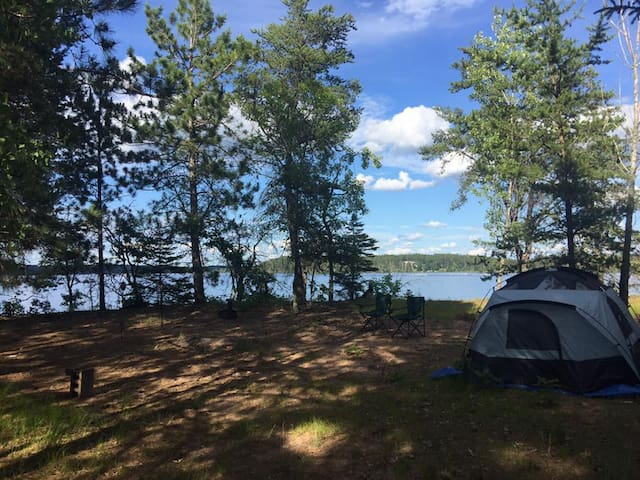 Perfect private camping site on a peninsula! WI