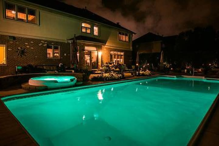 Luxury Home with In-Ground Pool - Bsmt Bedroom 2