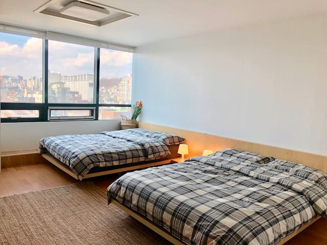 [City view5]Hongdae cozy room/Hongik univ.stn.1min