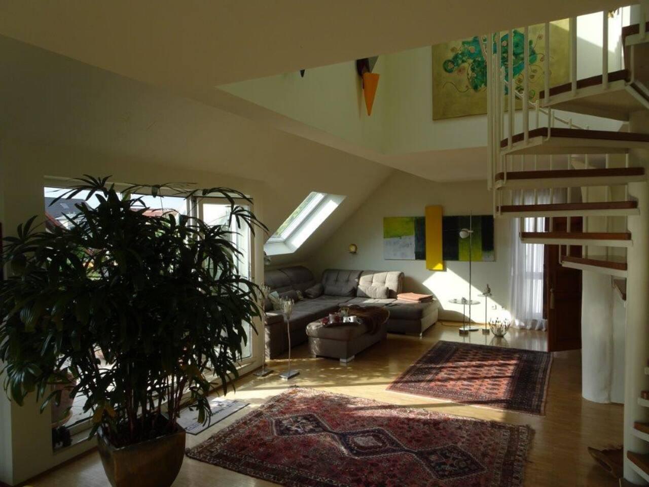 Maisonette-Wohnbereich