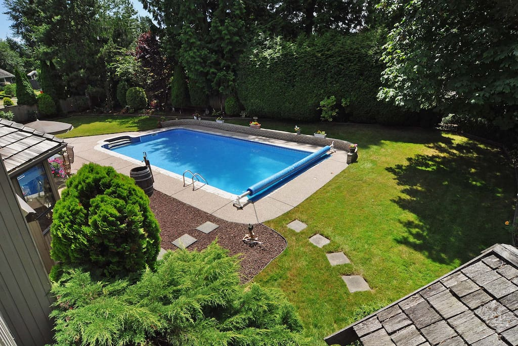 Immaculately maintained pool for summer and hot tub for winter