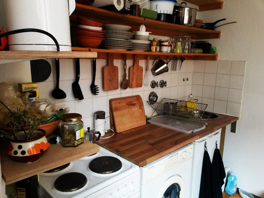 the kitchen-where you can find everything to cook...