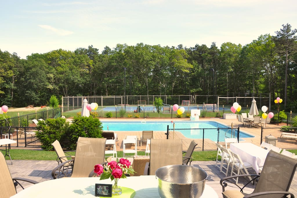 Backyard Amenities include a pool, tennis court and more