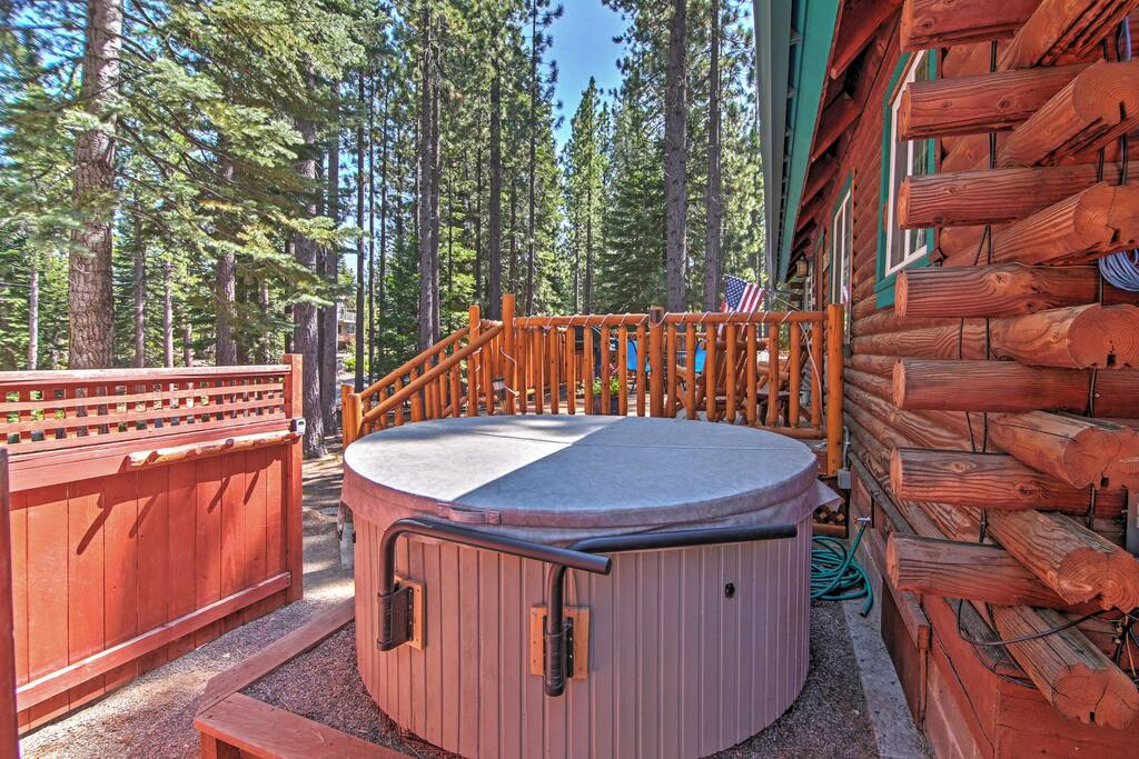 Enjoy having your own private hot tub during your stay!