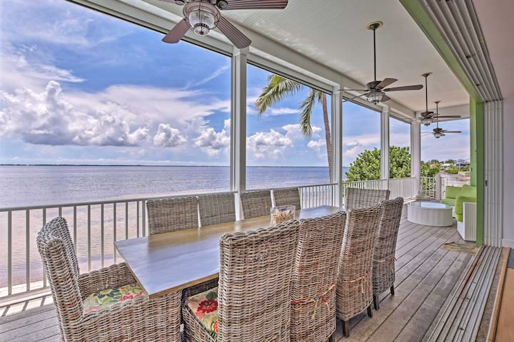 Oceanfront Saint James City Villa w/ Lap Pool