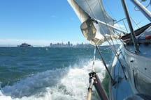 Inquire about sailing to Alcatraz, Angel Island,  or to the G.G. Bridge if interested -- another offering separate from the Abnb stay.