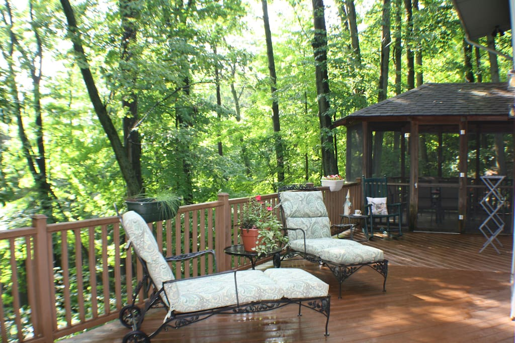 Back deck in the trees.....