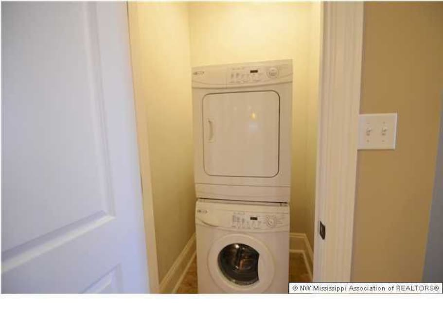 Upstairs private washer and dryer.