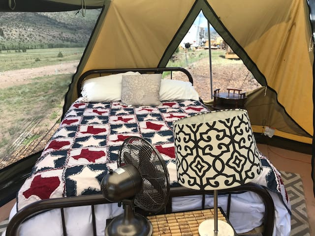 Glamping in the Rockies