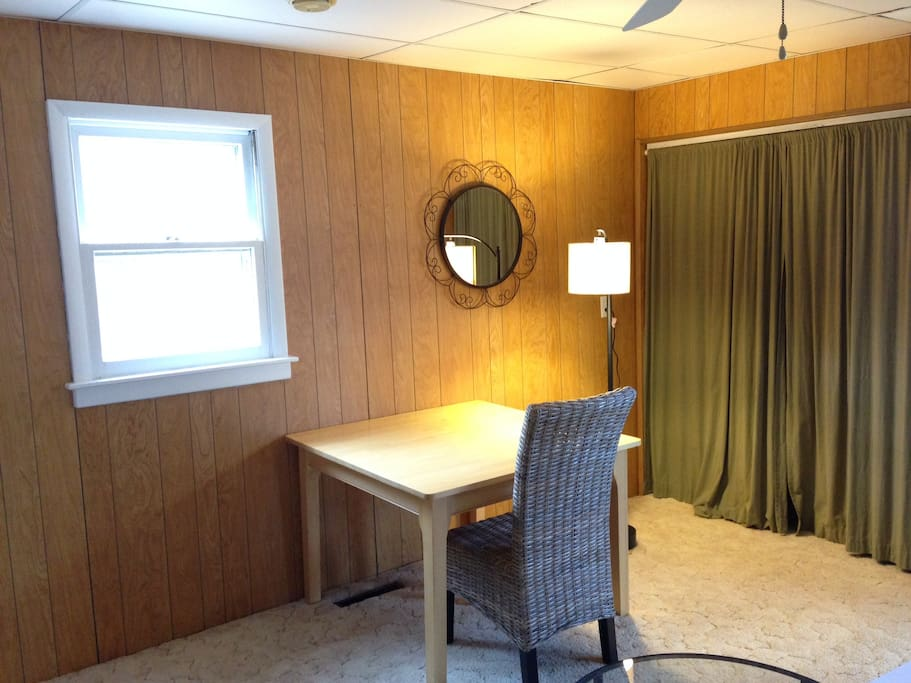 Living room, this is its North window.