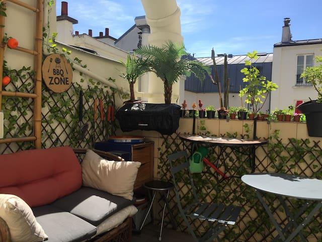 Charmant studio avec Terrasse-Coeur de Belleville