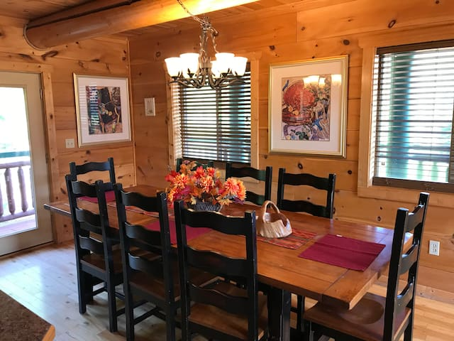 Dining room decorated for Fall 2019
