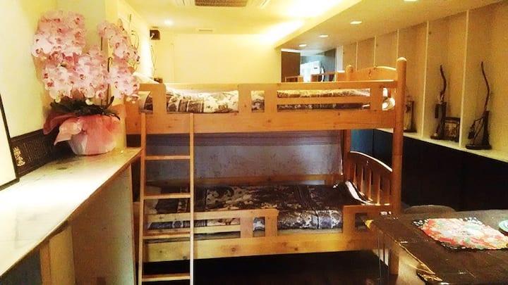 京都大津宿泊,GUESTHOUSE HANA3(華、哈娜),family room
