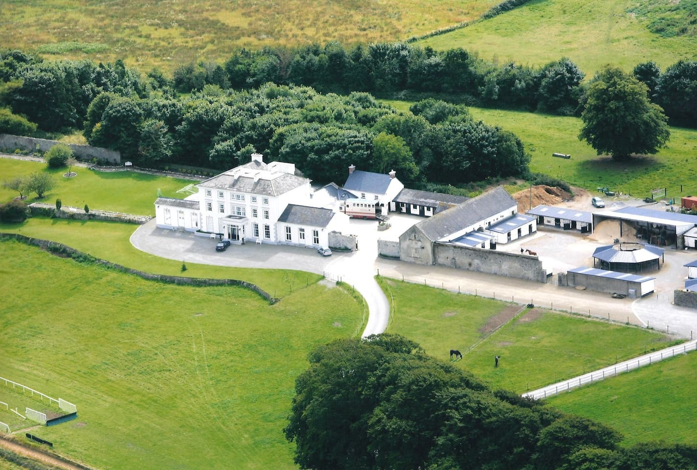Aerial view of Beechmount House & Stables