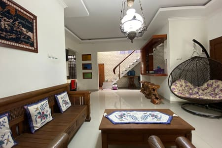 Cozy House with views of rice fields and Merapi
