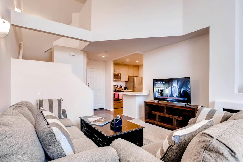 Relax and watch movies on one of three Smart HDTV's!