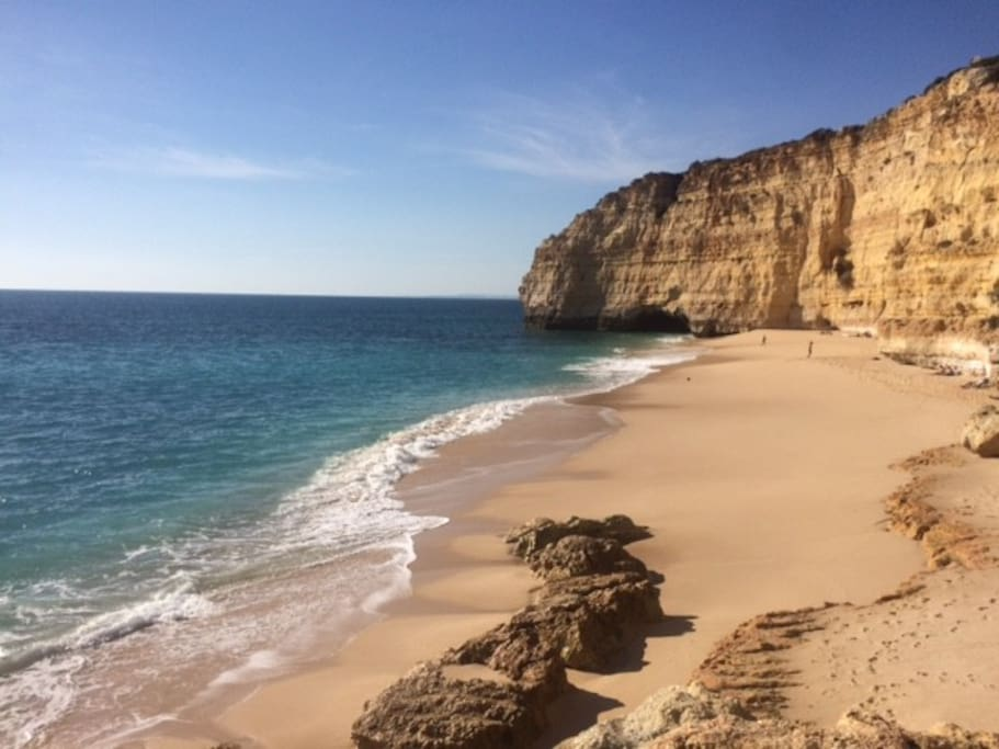 The stunning Centianes beach just a 5 min walk from your apartment