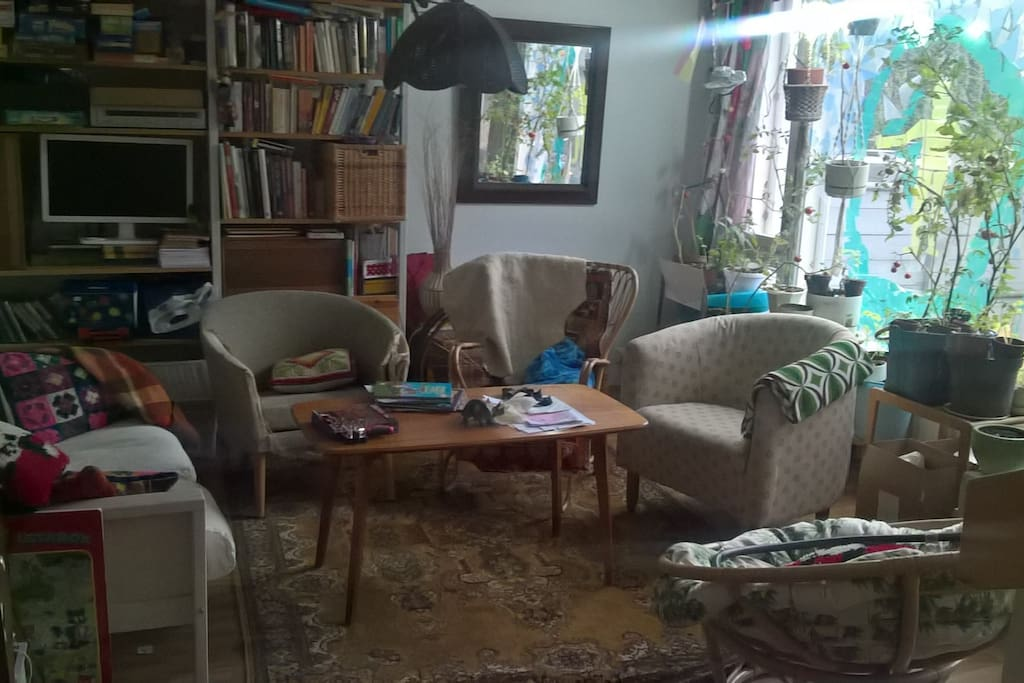 Shared living room, always full of stuff and quite often people as well =)