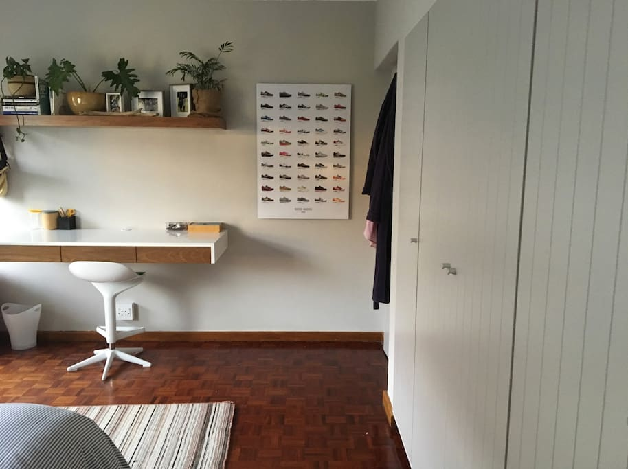 Ample storage space and desk area