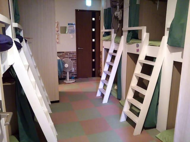 ドミトリー dormitory room(capsule bunk bed)